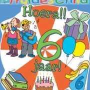 Gekleurd huldebord 6 jaar