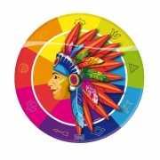 Indianen feestbordjes 8 stuks