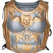 Romeinen harnas zilver goud