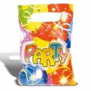 Gekleurde party feestzakjes 6 stuks