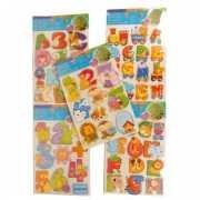 Letter kinderstickers diverse afbeeldingen