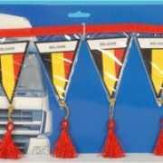 Auto mini vlaggenlijn Belgie 60 cm