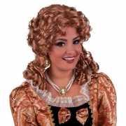 Damespruik barok met brons haar