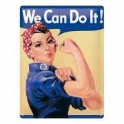 Tinnen plaat we can do it