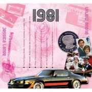 Verjaardagskaart met geboorte jaar 1981