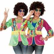 Gekleurd hippie vestje met franjes