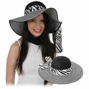 Dames hoed met zebra lintje