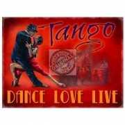 Wandplaatje dansschool deco Tango