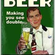 Wandplaat bierfeest see double