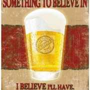 Wandplaat gadget nog een biertje