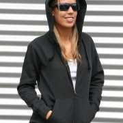 Zwart vest met capuchon voor dames