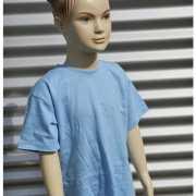 Lichtblauw t shirt voor kinderen