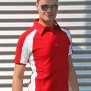 Rode polo shirts voor heren Lemon amp Soda