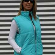Lemon en Soda turkoois dames bodywarmer