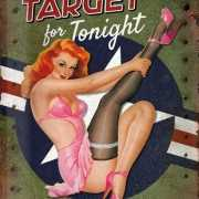 Retro muurplaat Target for Tonight 30 x 40 cm