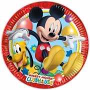 Kartonnen bordjes Mickey Mouse 10 stuks