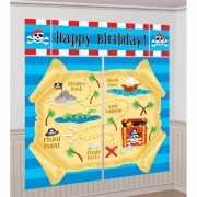Happy Birthday piraat decoratie