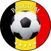 Belgie voetbal print bierviltjes
