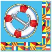 Papieren servetten marine thema
