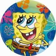 Kartonnen Spongebob bordjes 6 stuks