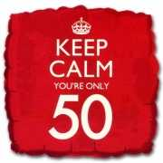 Cadeau ballon keep calm your 50