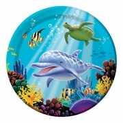 Oceaan themafeest bordjes 8 stuks