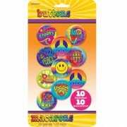 Tien hippie buttons