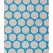 Cadeaupapier blauw met stippen 70x200 cm