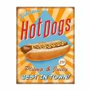 Wandplaat Hot Dogs