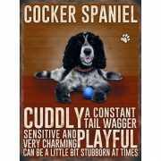 Wand bord Cocker Spaniel 30 x 40 cm