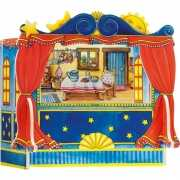 Mini poppen theater van hout