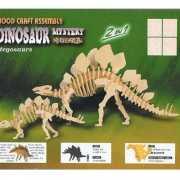 Houten bouwpakket van Stegosaurus