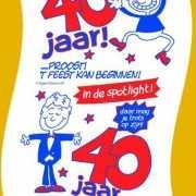 40 Jaar toilet papier man