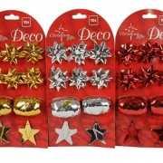 Versiering setje kerstcadeaus