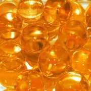Oranje decoratie aqua pearls 2 cm