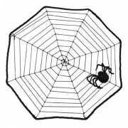 Halloween spinnenweb 40 x 40 cm