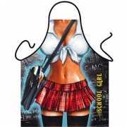 Funny BBQ schorten School Girl