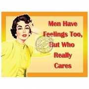 Metalen plaat feelings for men