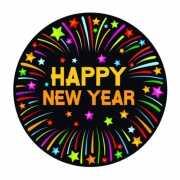 Viltjes met happy new year opdruk