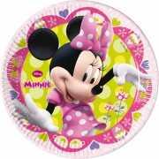Kinderverjaardag bordje Minnie Mouse 8 stuks