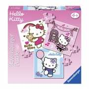 Speelgoed puzzel Hello Kitty 3 in 1
