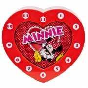 Minnie Mouse klokken hartvormig