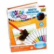 Boek met kleurplaten Noord Amerikaanse dieren