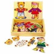 Speelgoed aankleed puzzel van beren