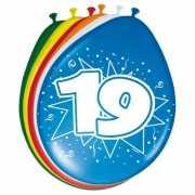 8 stuks ballonnen 19 jaar