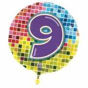9 jaar folieballon