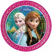 Kartonnen bordjes Frozen 8 stuks