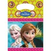 Frozen thema uitdeelzakjes 6 stuks
