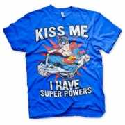 Blauw Superman heren t shirt