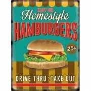 Metalen platen Hamburgers